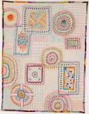 Hand and machine quilting. Extensive hand embroidery using perle cotton thread. $300
